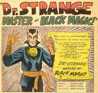 The first appearance of Doctor Strange in Strange Tales #110
