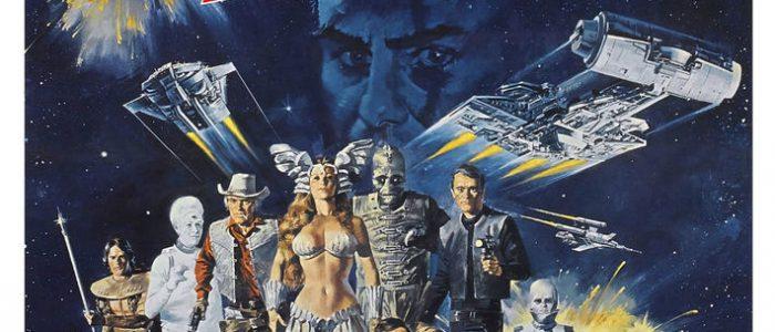 The 1980 Roger Corman Star Wars ripoff romp saw John-Boy and George Peppard take on the evil John Saxon