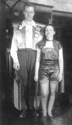 Ackerman and Moro in costume at the first Worldcon.