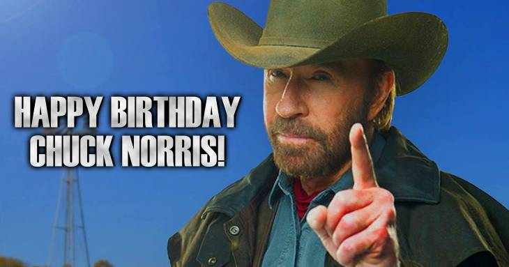 81 Chuck Norris Facts For His 81st Birthday